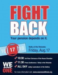 FIGHT BACK Your pension depends on it.